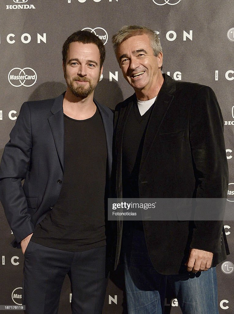 Carles Francino Jr and Carles Francino attend 'Icon' magazine launch party at the Circulo de Bellas Artes on November 6, 2013 in Madrid, Spain.