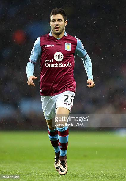 Carles Gil of Aston Villa during the Barclays Premier League match between Aston Villa and Watford at Villa Park on November 28 2015 in Birmingham...
