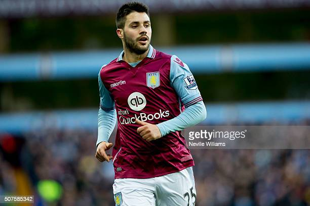 Carles Gil of Aston Villa during the Emirates FA Cup Fourth Round match between Aston Villa and Manchester City at Villa Park on January 30 2016 in...