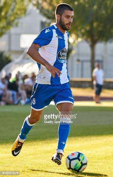 Carles Gil of Deportivo de La Coruna runs with the ball during the preseason friendly match between Club Silva SD and Deportivo de La Coruna at...