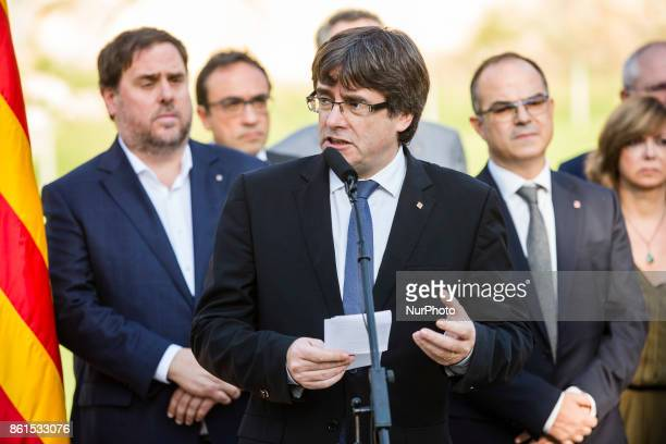 Carles Puigdemont President of Catalonia during the Conmemoration of the 77 years since the execution of the independence President of Catalonia...