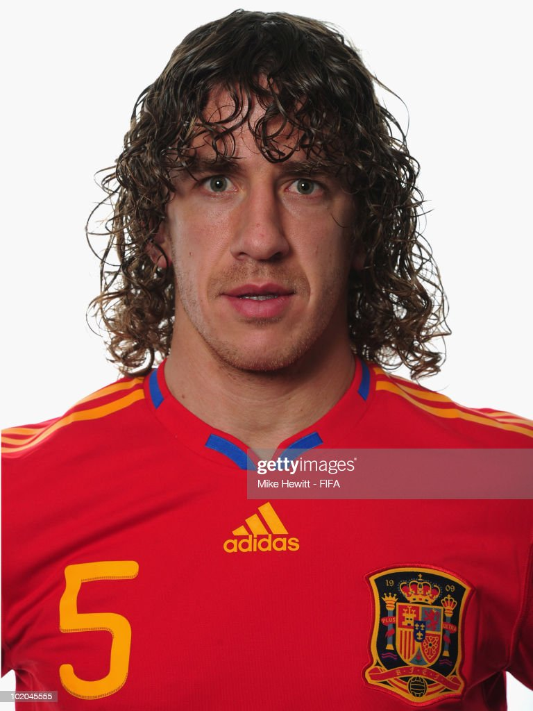 <a gi-track='captionPersonalityLinkClicked' href=/galleries/search?phrase=Carles+Puyol&family=editorial&specificpeople=211383 ng-click='$event.stopPropagation()'>Carles Puyol</a> of Spain poses during the official Fifa World Cup 2010 portrait session on June 13, 2010 in Potchefstroom, South Africa.