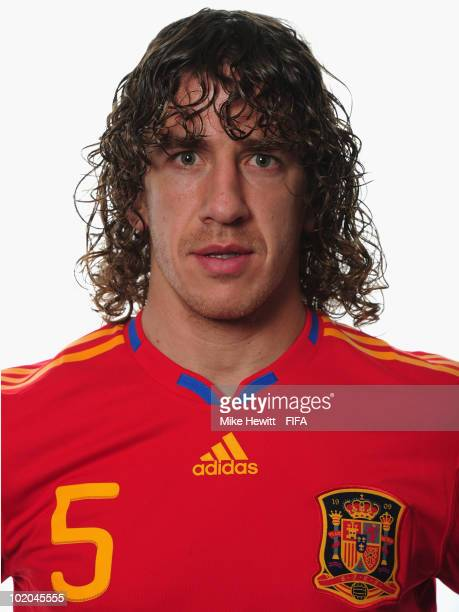 Carles Puyol of Spain poses during the official Fifa World Cup 2010 portrait session on June 13 2010 in Potchefstroom South Africa