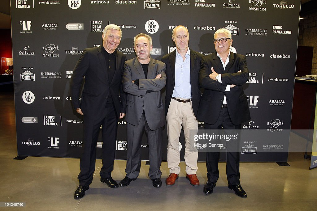 Carles Sans, Ferran Adria, Paco Mir and Joan Gracia attend the 'Ramblistes d'Honor 2012' Awards in Barcelona on October 16, 2012 in Barcelona, Spain.