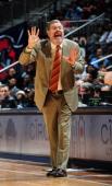 J Carlesimo Head Coach of the Brooklyn Nets calls a play against the Atlanta Hawks on January 16 2013 at Philips Arena in Atlanta Georgia NOTE TO...