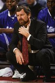 J Carlesimo head coach of the Seton Hall Pirates during a college basketball game against the Georgetown Hoyas on February 5 1994 at USAir Arena in...