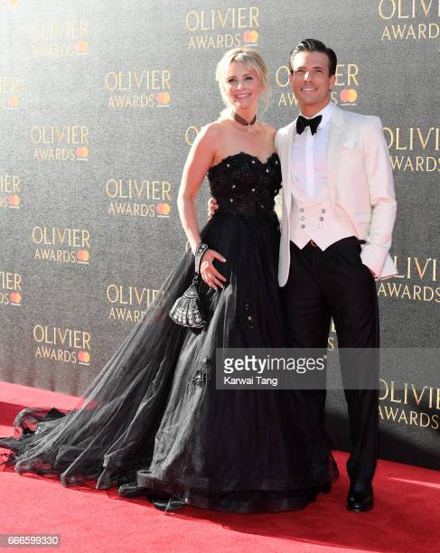 Carley Stenson and Danny Mac arrive for The Olivier Awards 2017 at the Royal Albert Hall on April 9 2017 in London England