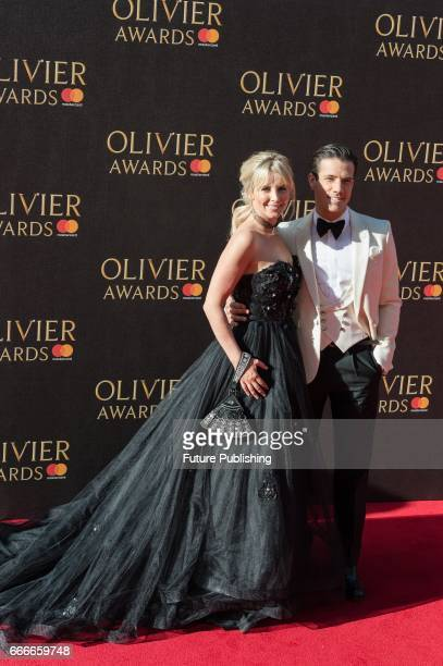 Carley Stenson and Danny Mac attend the 2017 Olivier Awards with Mastercard ceremony at the Royal Albert Hall on April 09 2017 in London England...