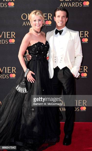 Carley Stenson and Danny Mac attend The Olivier Awards 2017 at Royal Albert Hall on April 9 2017 in London England