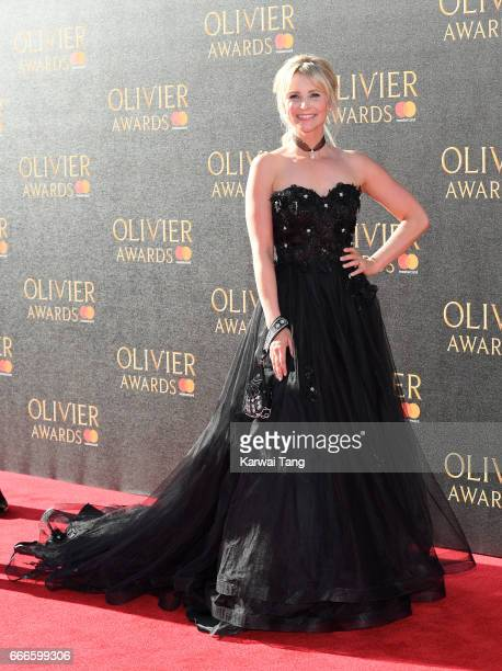 Carley Stenson arrives for The Olivier Awards 2017 at the Royal Albert Hall on April 9 2017 in London England