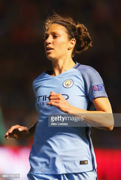 Carli Lloyd of Manchester City in action during the UEFA Women's Champions League Quarter Final second leg match between Manchester City and Fortuna...