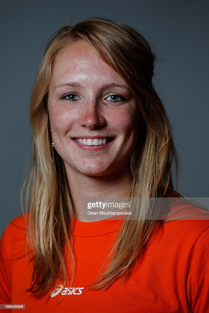 Carlijn Achtereekte, poses during the NOC*NSF (Nederlands Olympisch Comite * Nederlandse Sport Federatie) Sochi athletes and officials photo shoot for Asics at the Spoorwegmuseum on May 4, 2013 in Utrecht, Netherlands.