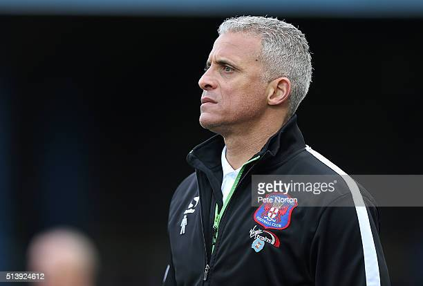 Carlisle United manager Keith Curle looks on during the Sky Bet League Two match between Carlisle United and Northampton Town at Brunton Park on...
