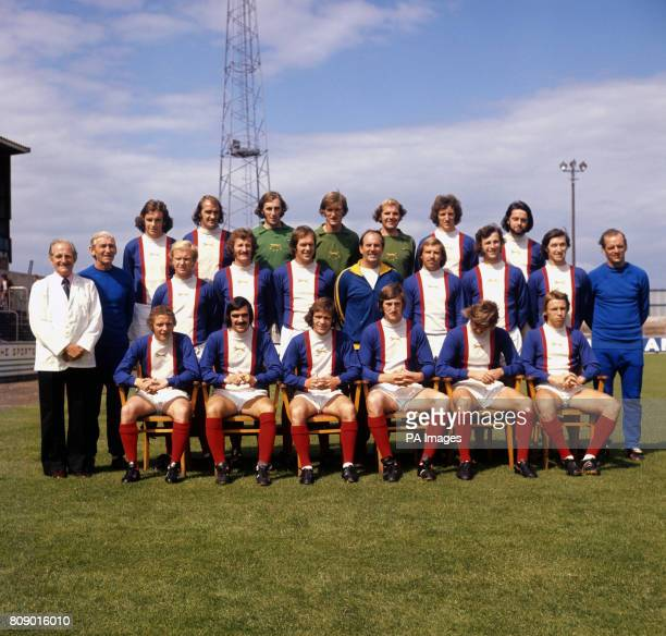Carlisle United Team Group Mike McCartney Frank Clarke Peter MacLachlan Allan Ross Tom Clarke Bobby Owen and Mike Barry Herbert Nicholson Dick Young...