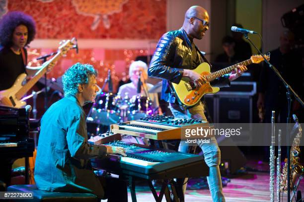 Carlitos del Puerto Chick Corea Steve Gadd and Lionel Loueke perform on stage during Festival Internacional Jazz Bacelona at Palau de la Musica on...
