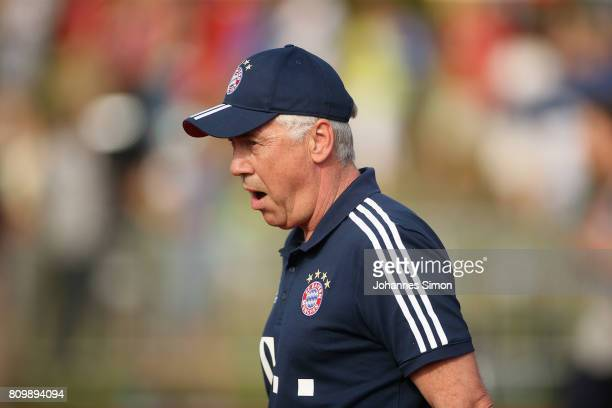 Carlo Ancelotti head coach of Bayern looks on prior to the preseason friendly match between BCF Wolfratshausen and Bayern Muenchen at on July 6 2017...