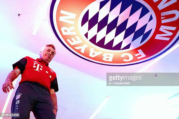 Carlo Ancelotti head coach of Muenchen walks at the players tunnel for the pre season friendly match between Bayern Muenchen and Manchester City FC...