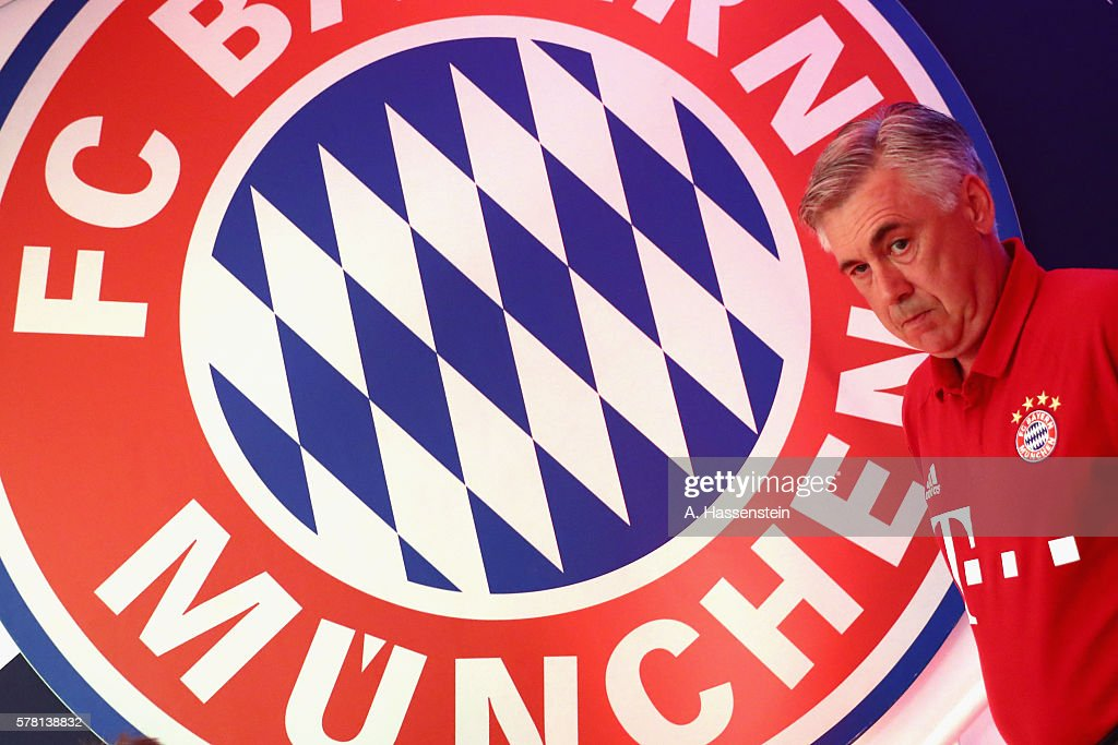 Carlo Ancelotti head coach of Muenchen walks at the playres tunnel for the pre season friendly match between Bayern Muenchen and Manchester City FC...
