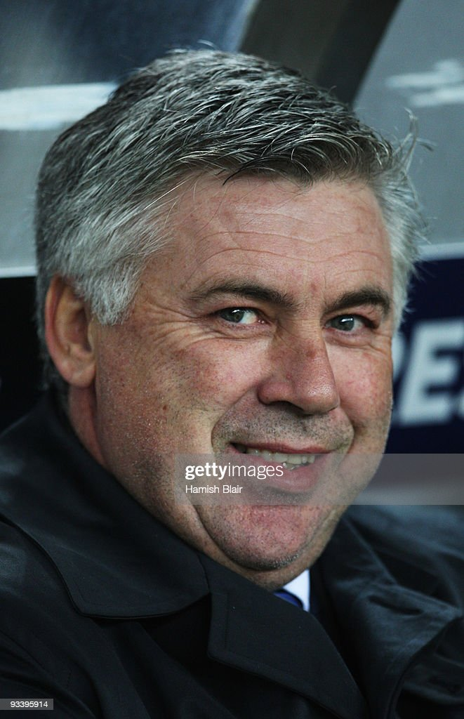 Carlo Ancelotti manager of Chelsea looks on prior to the UEFA Champions League Group D match between FC Porto and Chelsea at the Estadio Do Dragao on November 25, 2009 in Porto, Portugal.