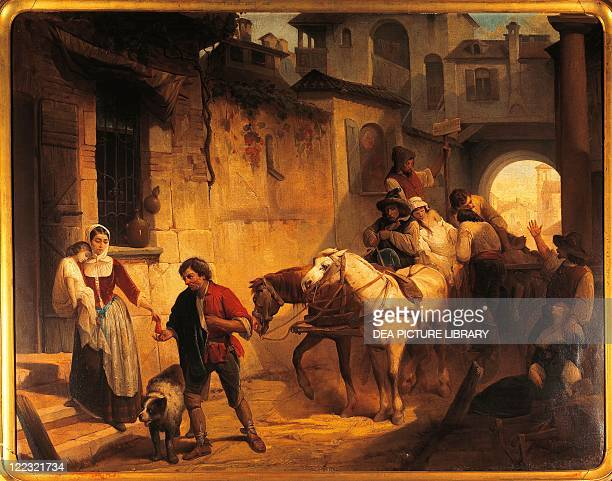Carlo Belgiojoso Farewell to Cecilia During Plague in Milan from Alessandro Manzoni The Betrothed