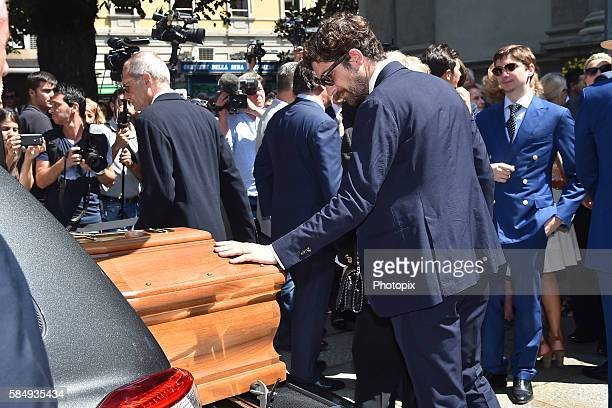Carlo Borromeo leaves the Marta Marzotto funeral at church of Sant'Angelo on August 1 2016 in Milan Italy