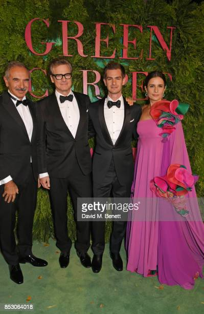 Carlo Capasa President of the Camera Nazionale della Moda Italiana Colin Firth Andrew Garfield and Livia Firth attend the Green Carpet Fashion Awards...