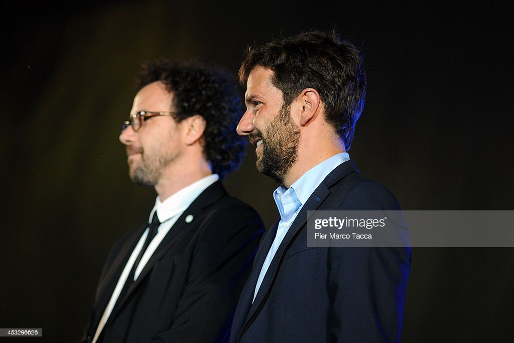 Carlo Chatrian and Mario Timbal attend 'Lucy' Premiere on August 6, 2014 in Locarno, Switzerland.