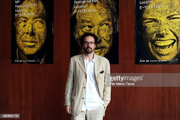 Carlo Chatrian Artistic Director of Locarno Film Festival poses before the 68 Locarno Film Festival press conference on July 16 2015 in Milan Italy