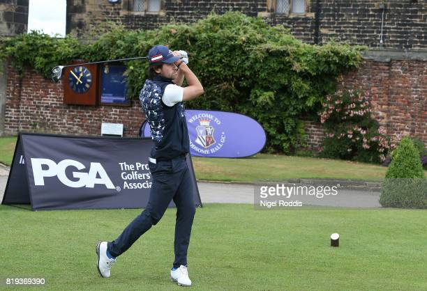 Carlo Ciullo of Hull Golf Club during the Golfbreakscom PGA Fourball Championship North Qualifier at Woodsome Hall Golf Course on July 20 2017 in...