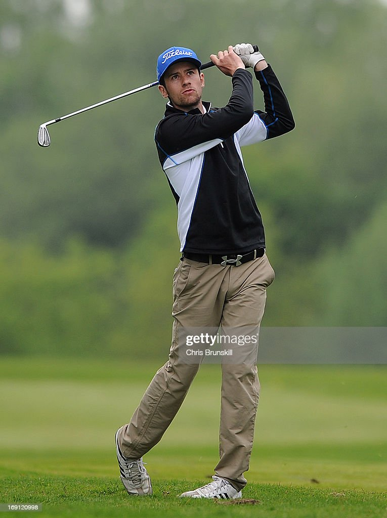 Carlo Ciullo of KP Club in action during the Powerade PGA Assistants' Championship Regional Qualifier at Penwortham Golf Club on May 20, 2013 in Preston, England.