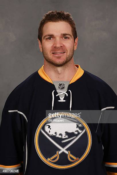 Carlo Colaiacovo of the Buffalo Sabres poses for his official headshot for the 20152016 season on September 17 2015 at the First Niagara Center in...
