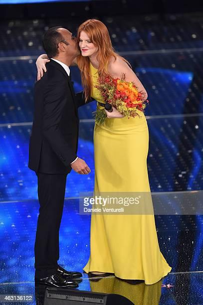 Carlo Conti and Chiara attend the opening night of the 65th Festival di Sanremo 2015 at Teatro Ariston on February 10 2015 in Sanremo Italy