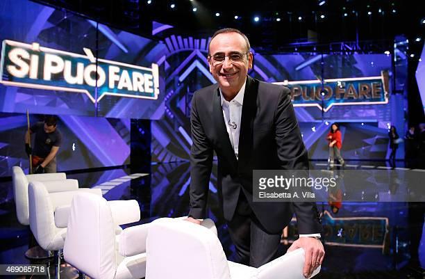 Carlo Conti attends 'Si Puo Fare' Tv Show at RAI Studios on April 9 2015 in Rome Italy