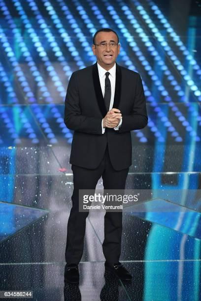 Carlo Conti attends the fourth night of the 67th Sanremo Festival 2017 at Teatro Ariston on February 10 2017 in Sanremo Italy