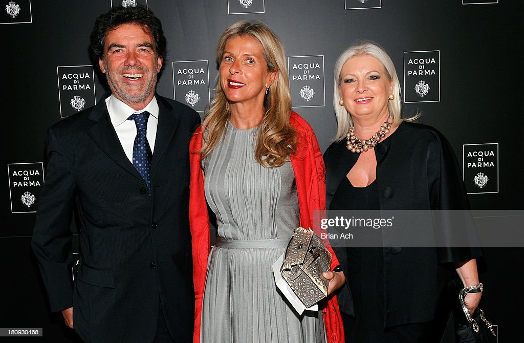 Carlo Corucci, Caroline Draft and president of Acqua di Parma Gabriella Scarpa attend Acqua di Parma gala event: Roberto Bolle and Friends tribute to La nobilita' del Fare Giovanni Gastel photo exhibition, as part of 2013 year of Italian Culture in The US on September 17, 2013 in New York City.