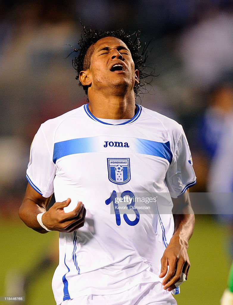 Carlo Costly (13) of Honduras reacts after he missed a goal against Guatemala during CONCACAF Gold Cup qualifying match at The Home Depot Center on June 6, 2011 in Carson, California.