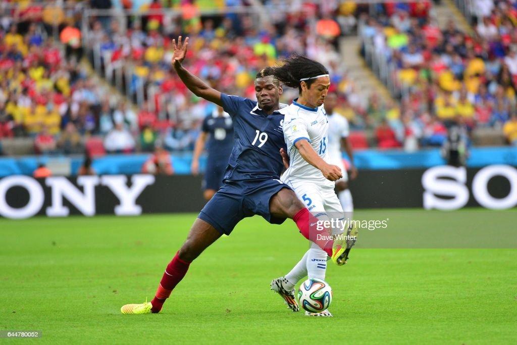 Carlo COSTLY / Paul POGBA - - France / Honduras - Coupe du Monde 2014 -, Photo : Dave Winter / Icon Sport