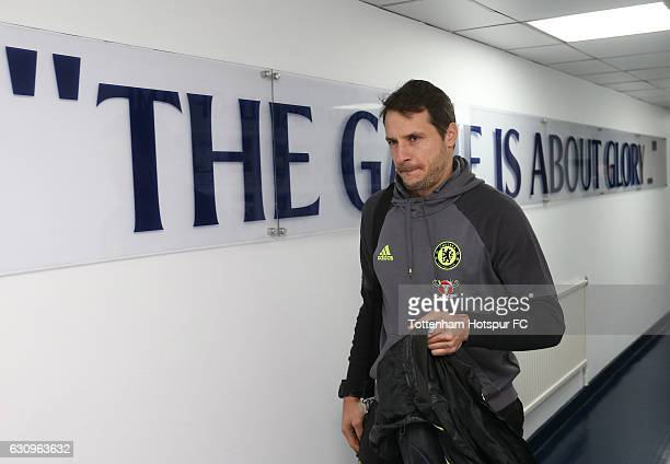 Carlo Cudicini of Chelsea arrives at the stadium prior to the Premier League match between Tottenham Hotspur and Chelsea at White Hart Lane on...