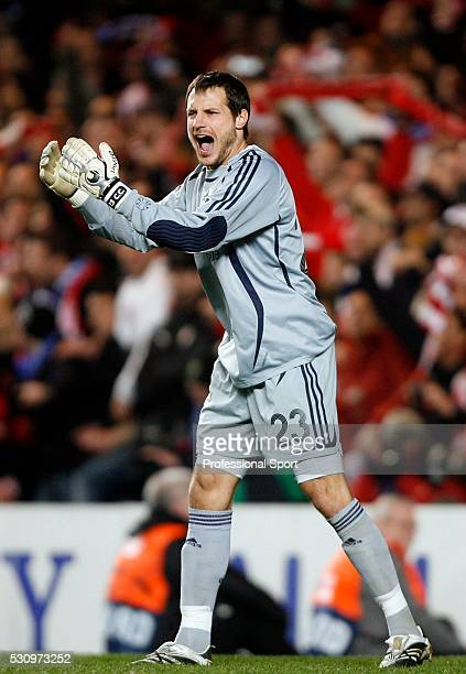 Carlo Cudicini of Chelsea during the Chelsea v Olympiakos UEFA Champions League Match at Stamford Bridge Stadium London UK