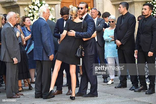 Carlo Ferdinando Borromeo Carlo Borromeo Matilde Borromeo and Pierre Casiraghi arrive at Marta Marzotto funeral at church of Sant'Angelo on August 1...