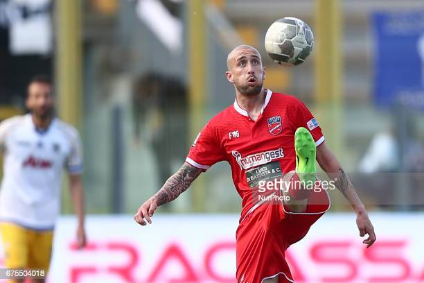 Carlo Ilari of Teramo Calcio in action during Lega Pro round B match between Teramo Calcio 1913 and Parma Calcio at Stadium Gaetano Bonolis on 30...