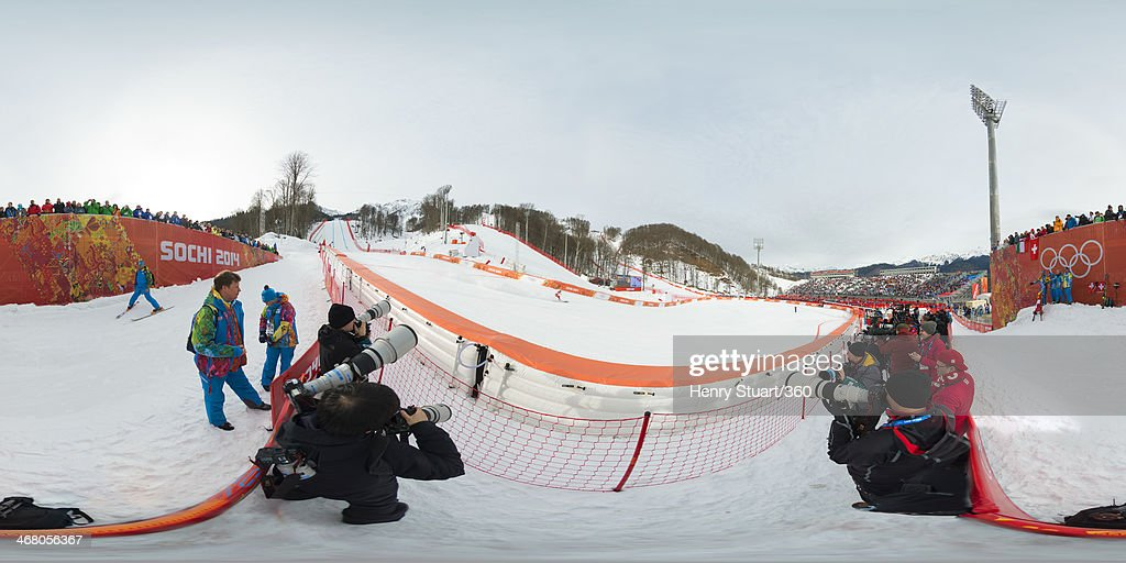 <a gi-track='captionPersonalityLinkClicked' href=/galleries/search?phrase=Carlo+Janka&family=editorial&specificpeople=5622589 ng-click='$event.stopPropagation()'>Carlo Janka</a> of Switzerland competes during the Alpine Skiing Men's Downhill at the Sochi 2014 Winter Olympic Games at Rosa Khutor Alpine Center on February 9, 2014 in Sochi, Russia.