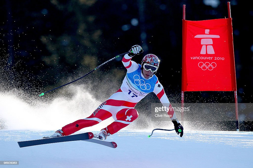 <a gi-track='captionPersonalityLinkClicked' href=/galleries/search?phrase=Carlo+Janka&family=editorial&specificpeople=5622589 ng-click='$event.stopPropagation()'>Carlo Janka</a> of Switzerland competes during the Alpine Skiing Men's Super Combined Downhill on day 10 of the Vancouver 2010 Winter Olympics at Whistler Creekside on February 21, 2010 in Whistler, Canada.