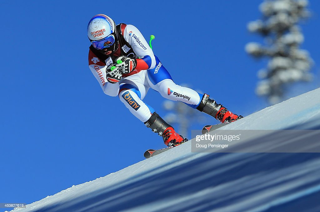 <a gi-track='captionPersonalityLinkClicked' href=/galleries/search?phrase=Carlo+Janka&family=editorial&specificpeople=5622589 ng-click='$event.stopPropagation()'>Carlo Janka</a> of Switzerland in action during downhill training for the Birds of Prey Audi FIS Ski World Cup on December 5, 2013 in Beaver Creek, Colorado.