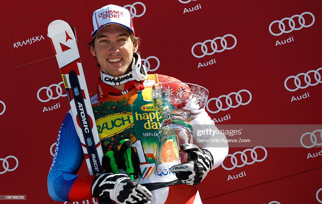 <a gi-track='captionPersonalityLinkClicked' href=/galleries/search?phrase=Carlo+Janka&family=editorial&specificpeople=5622589 ng-click='$event.stopPropagation()'>Carlo Janka</a> of Switzerland takes 1st place during the Audi FIS Alpine Ski World Cup Men's Giant Slalom on March 5, 2011 in Kranjska Gora, Slovenia.