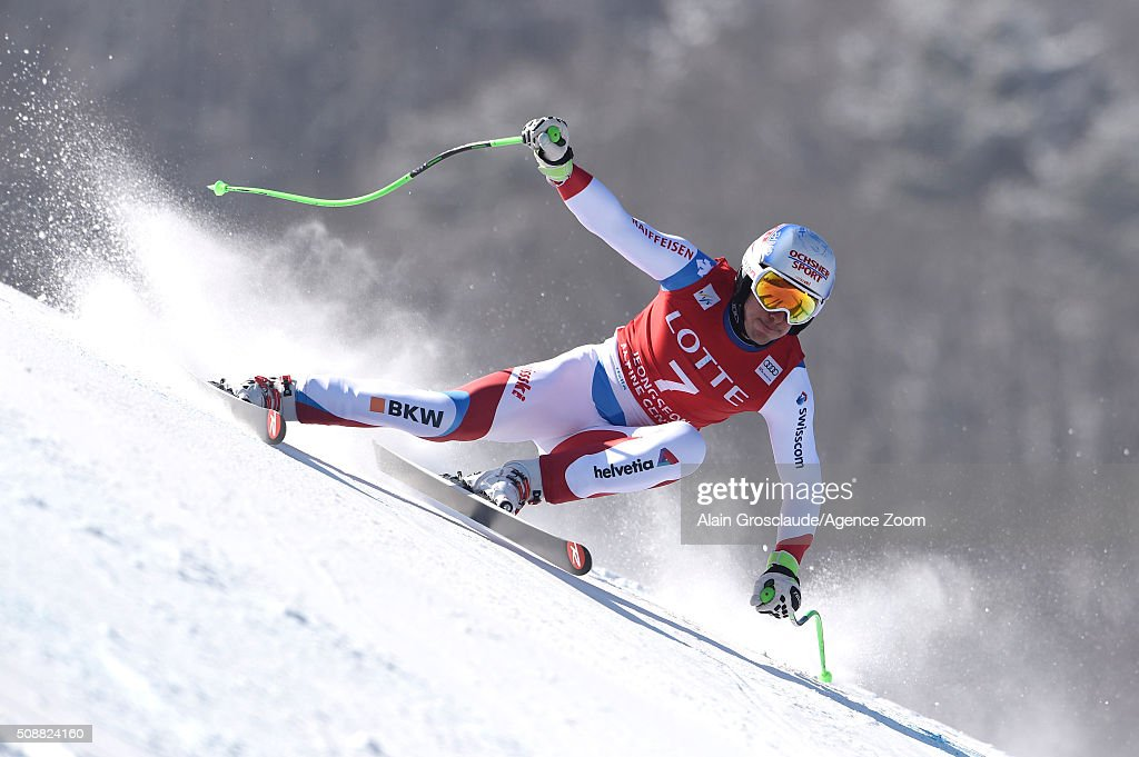<a gi-track='captionPersonalityLinkClicked' href=/galleries/search?phrase=Carlo+Janka&family=editorial&specificpeople=5622589 ng-click='$event.stopPropagation()'>Carlo Janka</a> of Switzerlandcompetes during the Audi FIS Alpine Ski World Cup Men's Super G on January 07, 2016 in Jeongseon, South Korea.