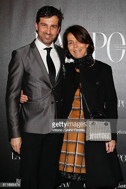 Carlo Mazzoni and Beatrice Piovella attends #THE ROYAL PUNK Party By Lampoon on February 23 2016 in Milan Italy