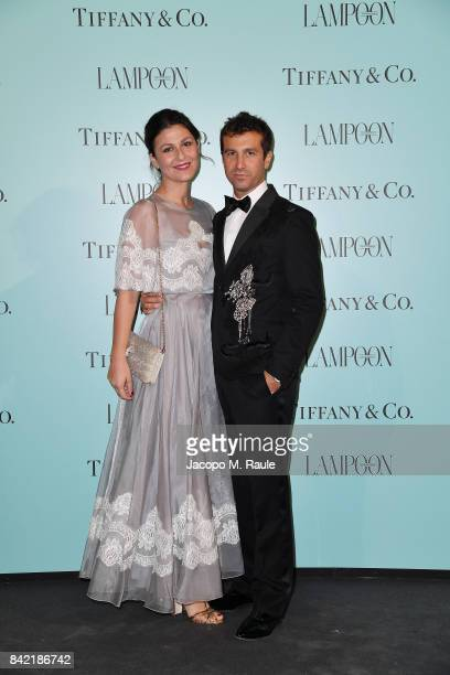 Carlo Mazzoni and Esmeralda Brajovic attend Keep On Shining Party Tiffany and Co For Lampoon Magazine at Conservatorio Di Venezia on September 2 2017...