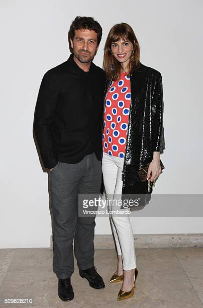Carlo Mazzoni and Gaia Bermani Amaral attend 'Dee Di Vita' Presentation at Triennale di Milano on May 9 2016 in Milan Italy