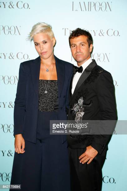 Carlo Mazzoni and Giulia Mazzoni attend Keep On Shining Party Tiffany and Co For Lampoon Magazine at Conservatorio Di Venezia on September 2 2017 in...